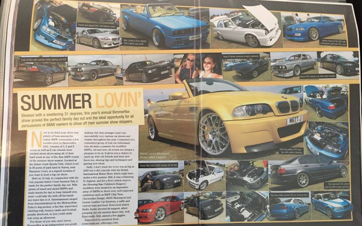 A review of Bimmerflex 2006 in Performance BMW magazine [Sam Skinner].
