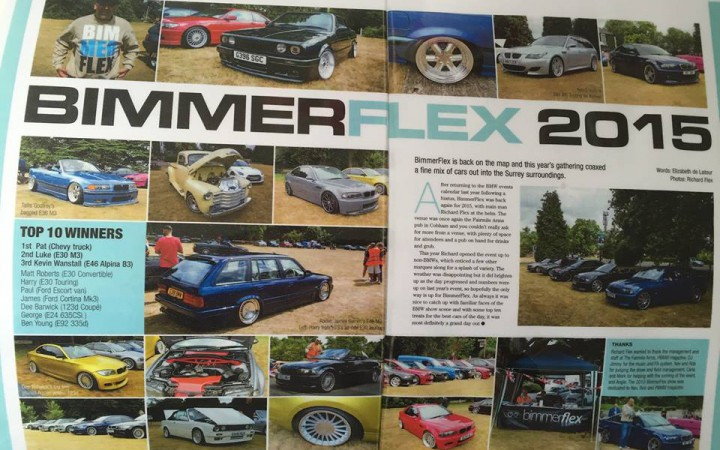 A review of Bimmerflex 2015 in Performance BMW magazine [Sam Skinner].