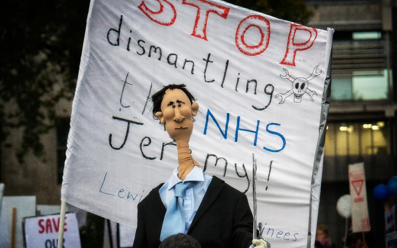 Effigy of Jeremy Hunt