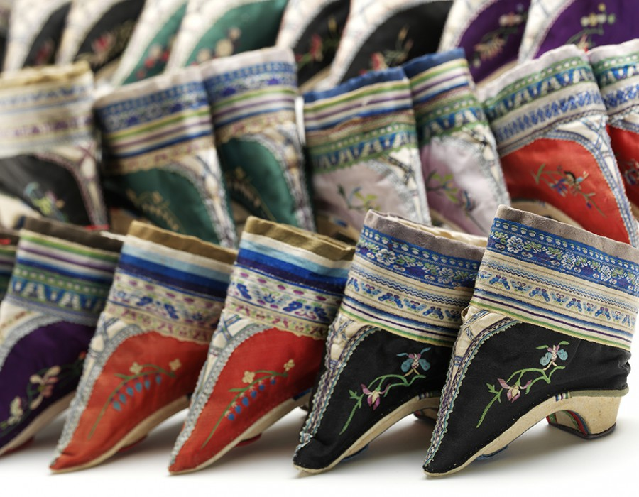 Row of traditional shoes