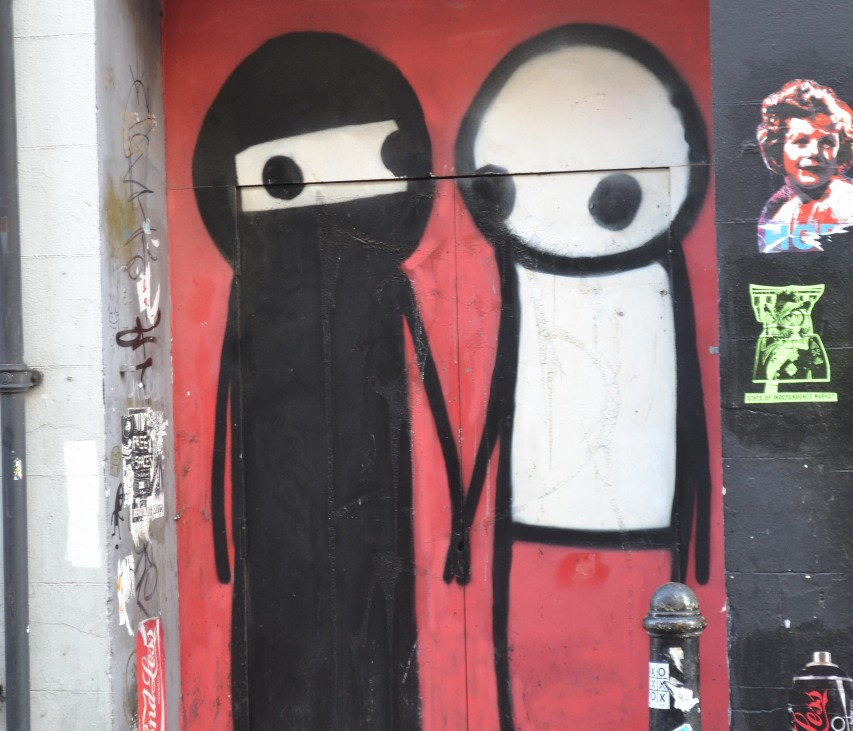 Artwork by Stik. [Photo by Joshua Potter]