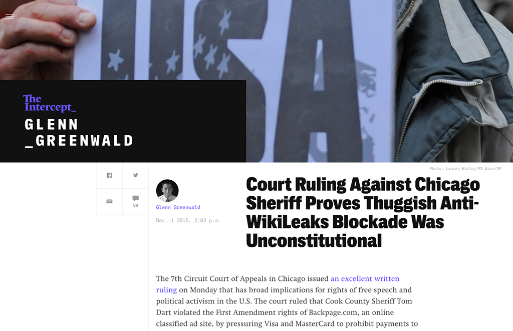 Screenshot of The Intercept