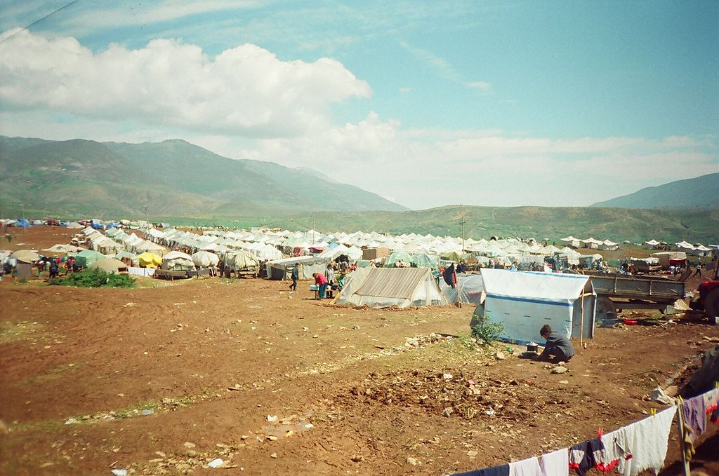 Refugee Camp in Kukes