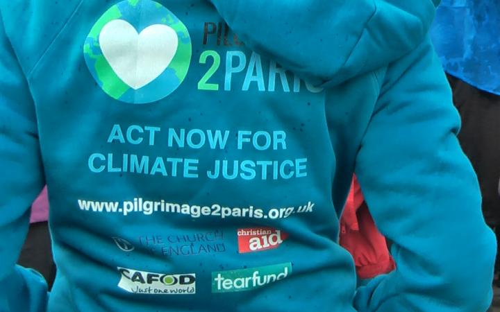 Pilgrimage2Paris hoodie. [Photo by Joshua Potter]