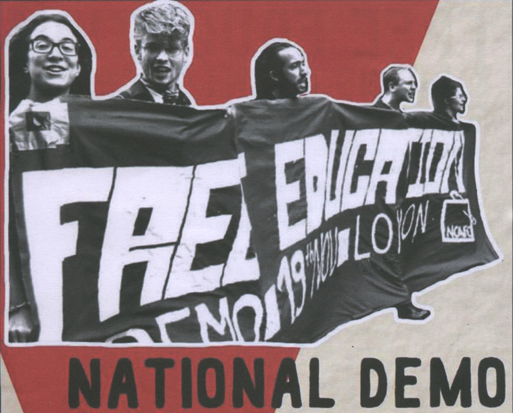 Vintage protest poster