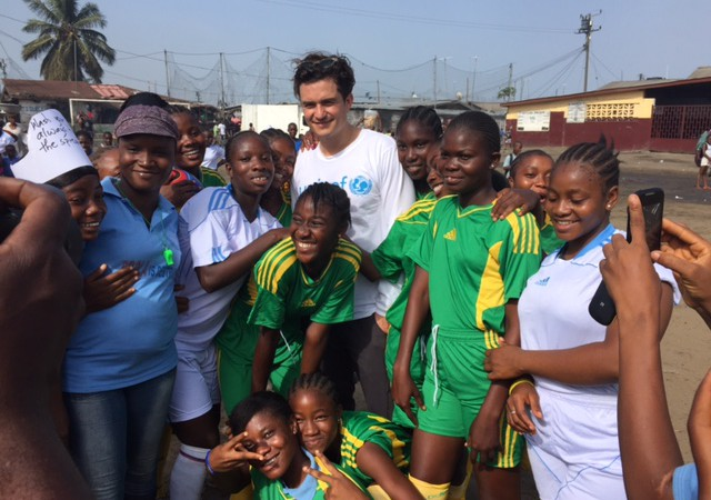 Orlando Bloom working with Unicef