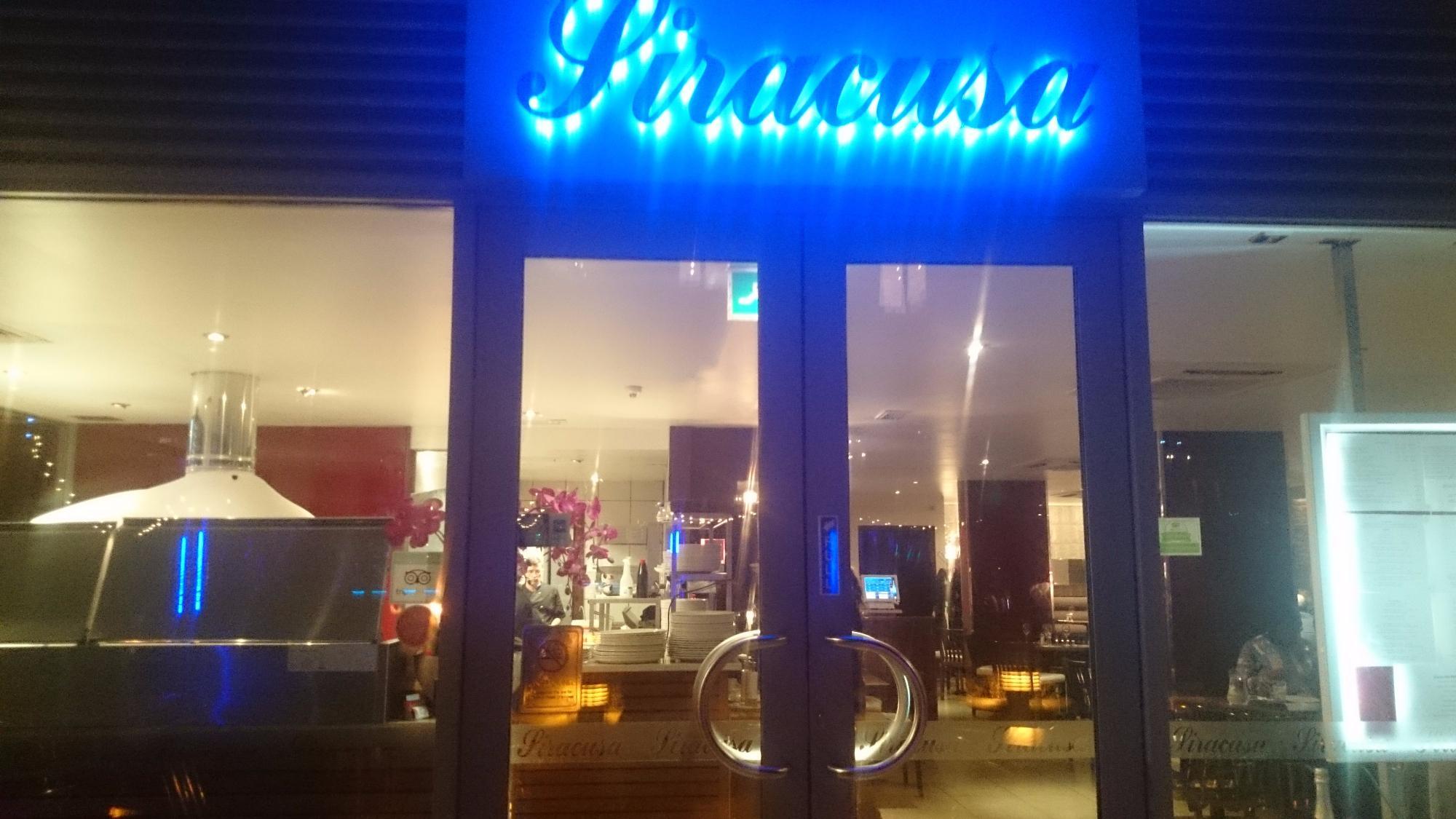 Exterior shot of Siracusa shop