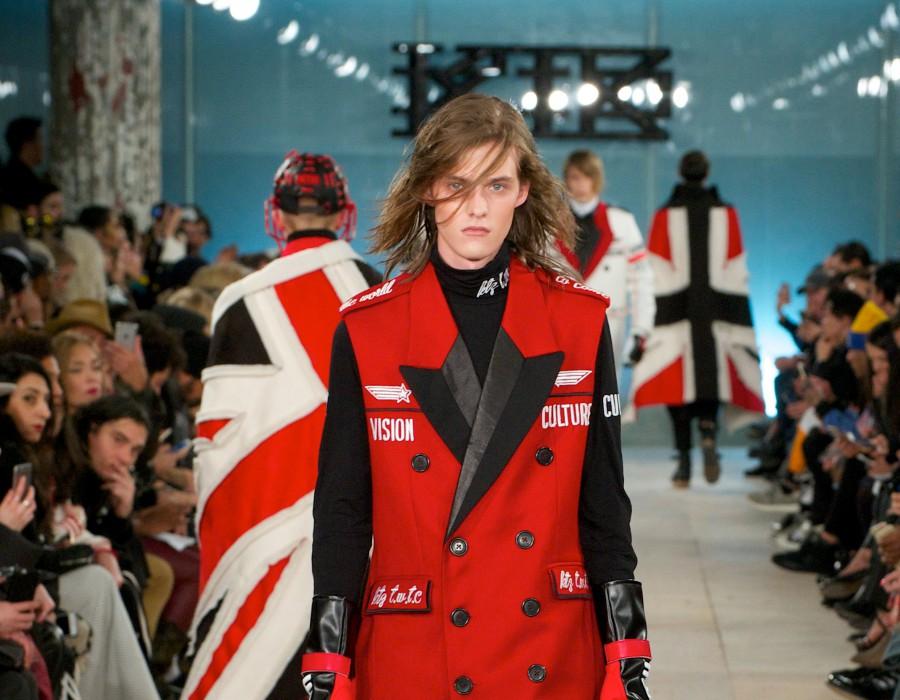 Models at a fashion show