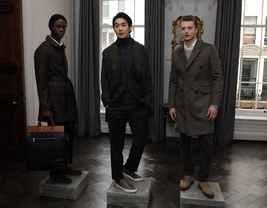 Three models in coats