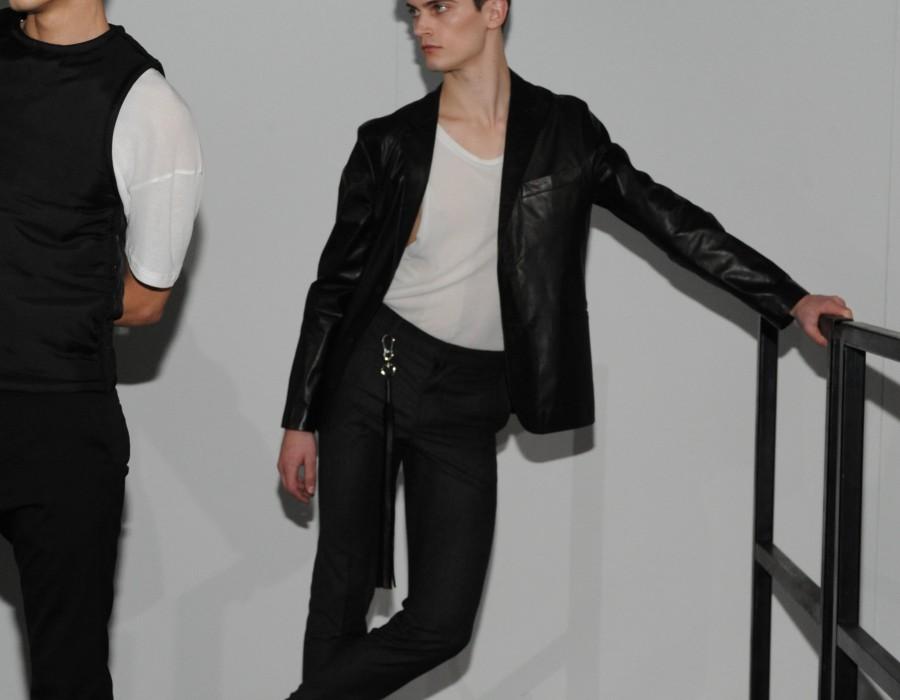 Models on a catwalk
