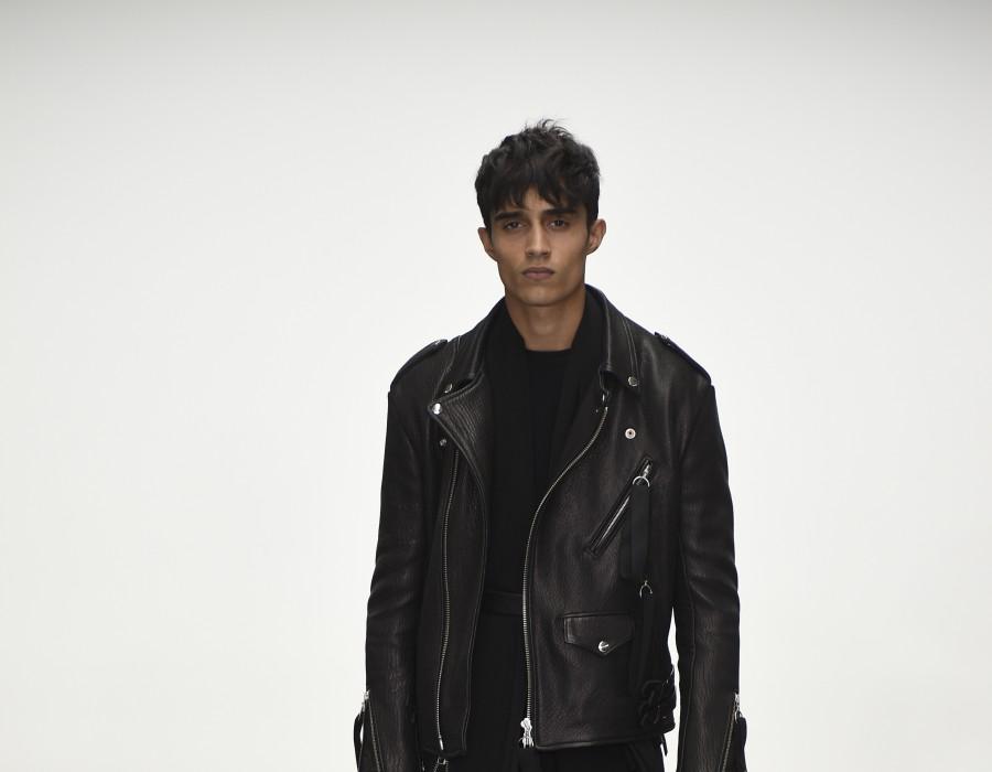 A model on a catwalk