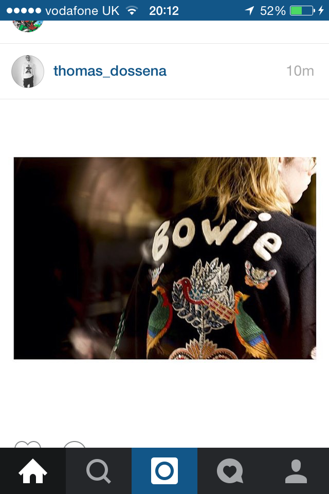 GUCCI AW16 paying tribute to David Bowie Photo via Instagram