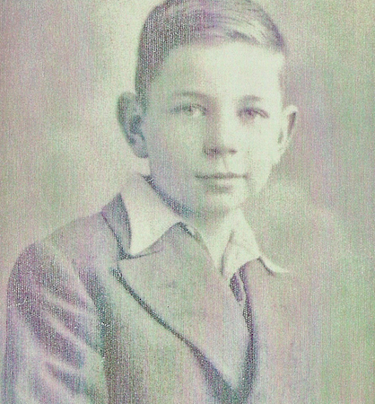 Lindsay Kemp as a young boy