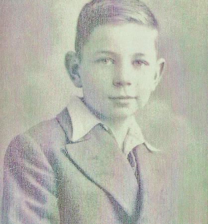 Lindsay Kemp as a young boy