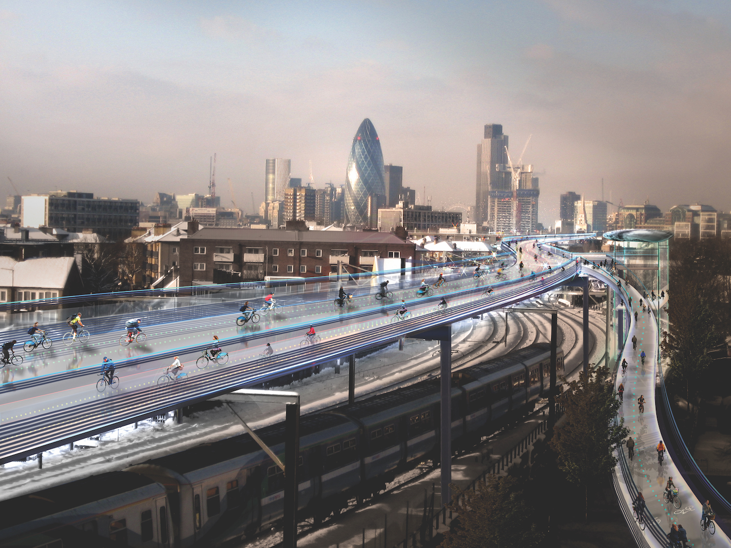 London Cycleway artists impression