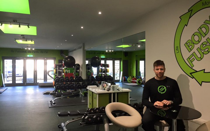 Damian at his gym in Surrey [Sam Skinner].