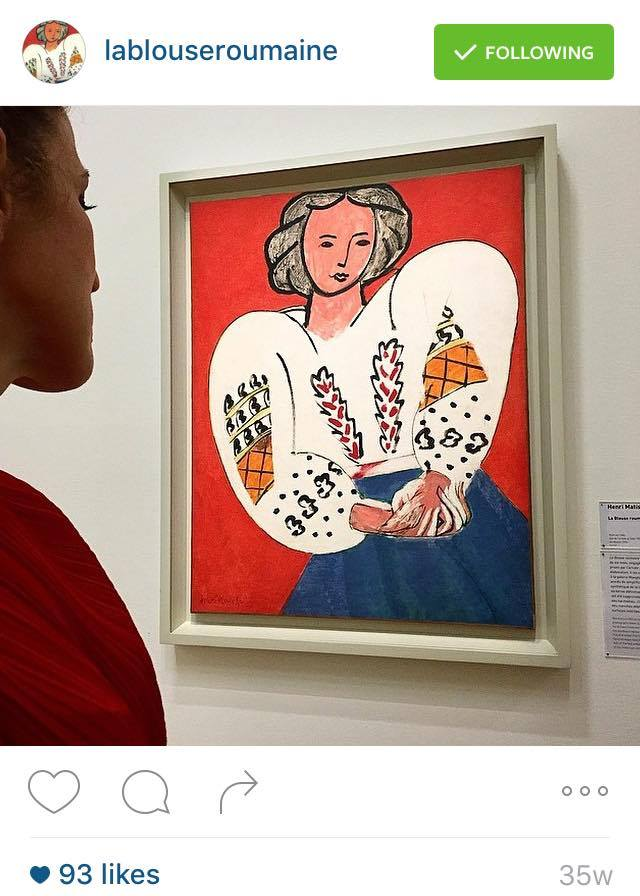 Henri Matisse 'La Blouse Roumaine' at the Musée National d'Art Moderne in Paris.
