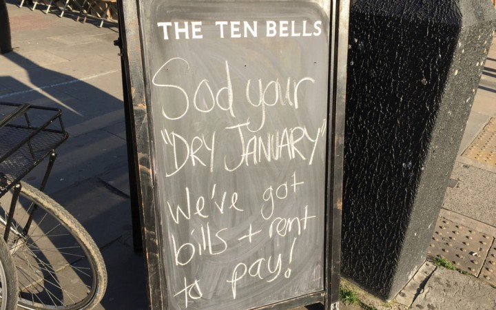 Dry January reaction