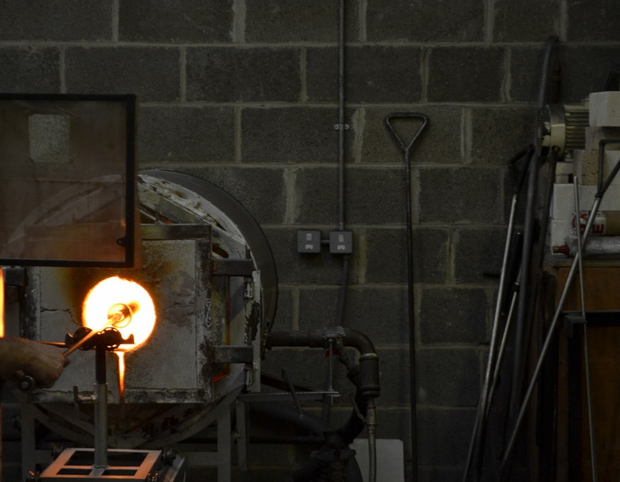 A Glassblowing Kiln being fired up