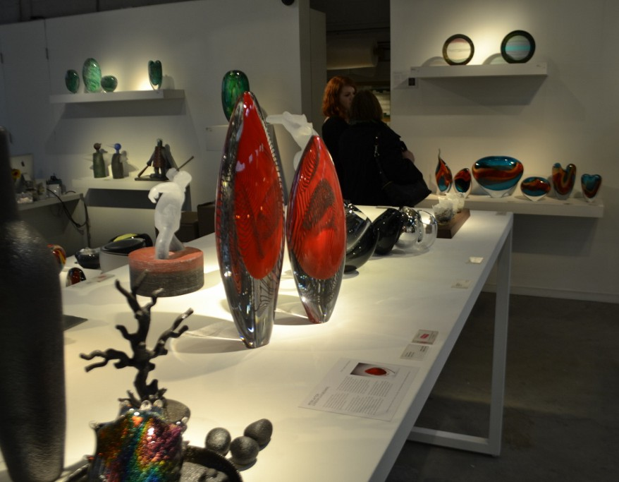Glasswear on display
