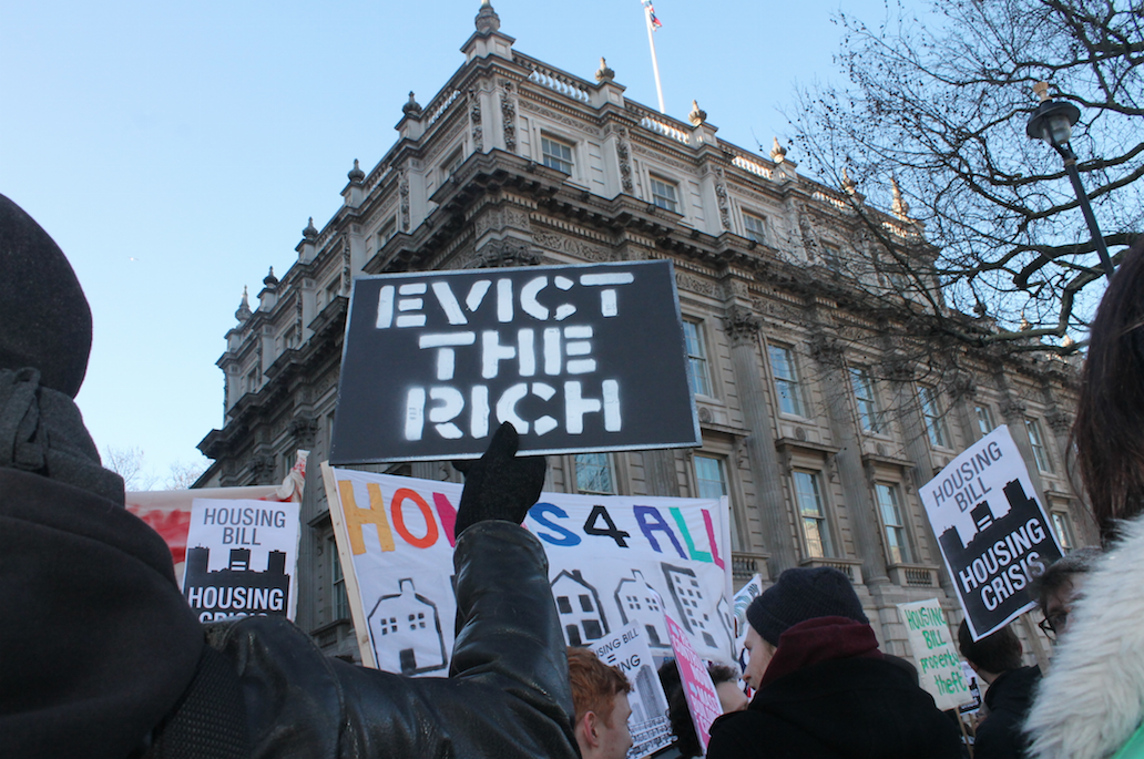 Evict the Rich placard