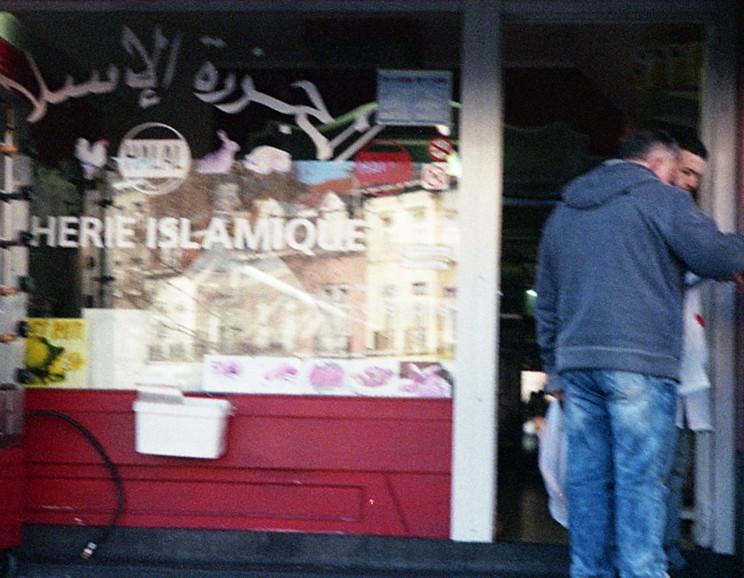 Molenbeek store with arabic writing