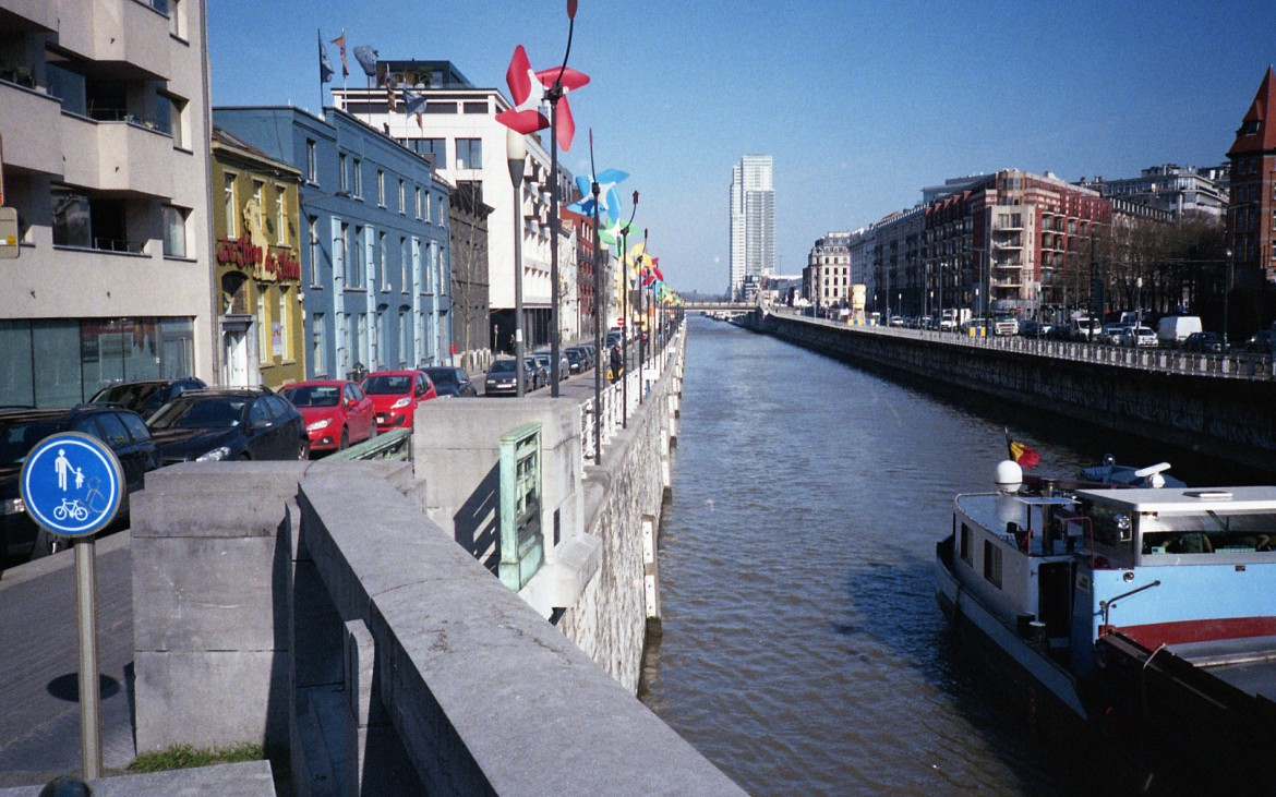 The canal that splits the city in half.