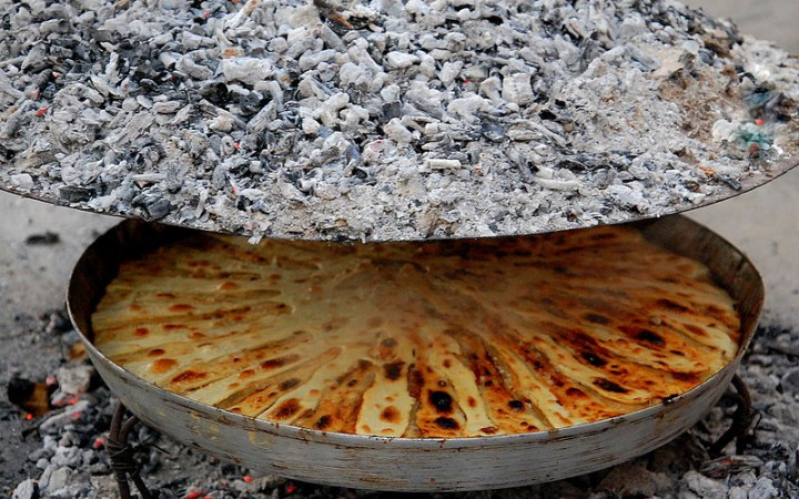 "A traditional Albanian dish called ""Fli"". Photo taken by Bujar I Gashi."