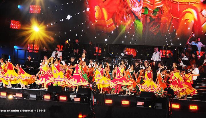 Dancers at Wembley stadium