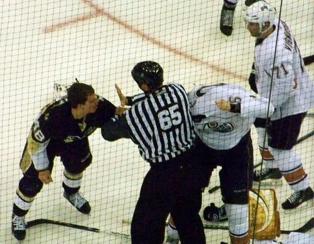 Ice Hockey referee in a match
