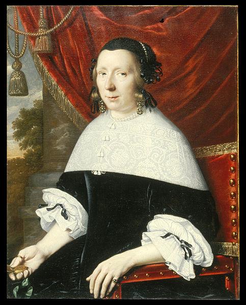Portrait of a Woman holding open a fashionable pocket watch  (1663) / Pieter Nason (fl. 1632–1690)  via Wikimedia Commons