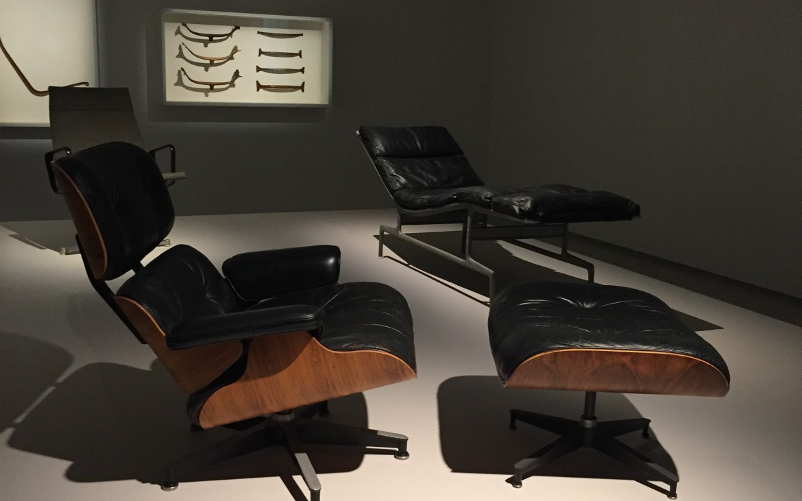Eames Loung chair and Ottoman at the Barbican by Zandile Lungah