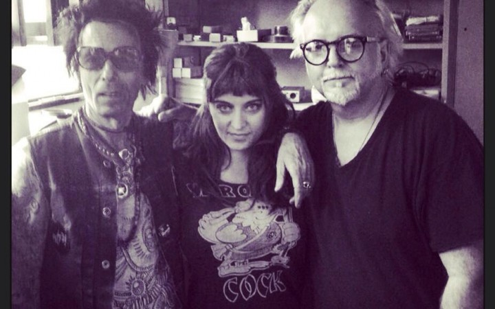 Bowie guitarists Earl Slick [left] and Reeves Gabrels [right] working with Lisa.  Image by Tom Wilcox via Counterculture