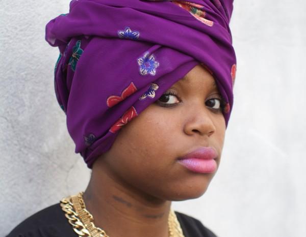 Woman in Philadelphia wearing a headscarf