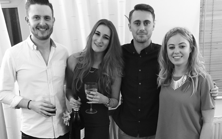 Holly with her friends, and boyfriend Lars, down in Bournemouth [Holly Allright]