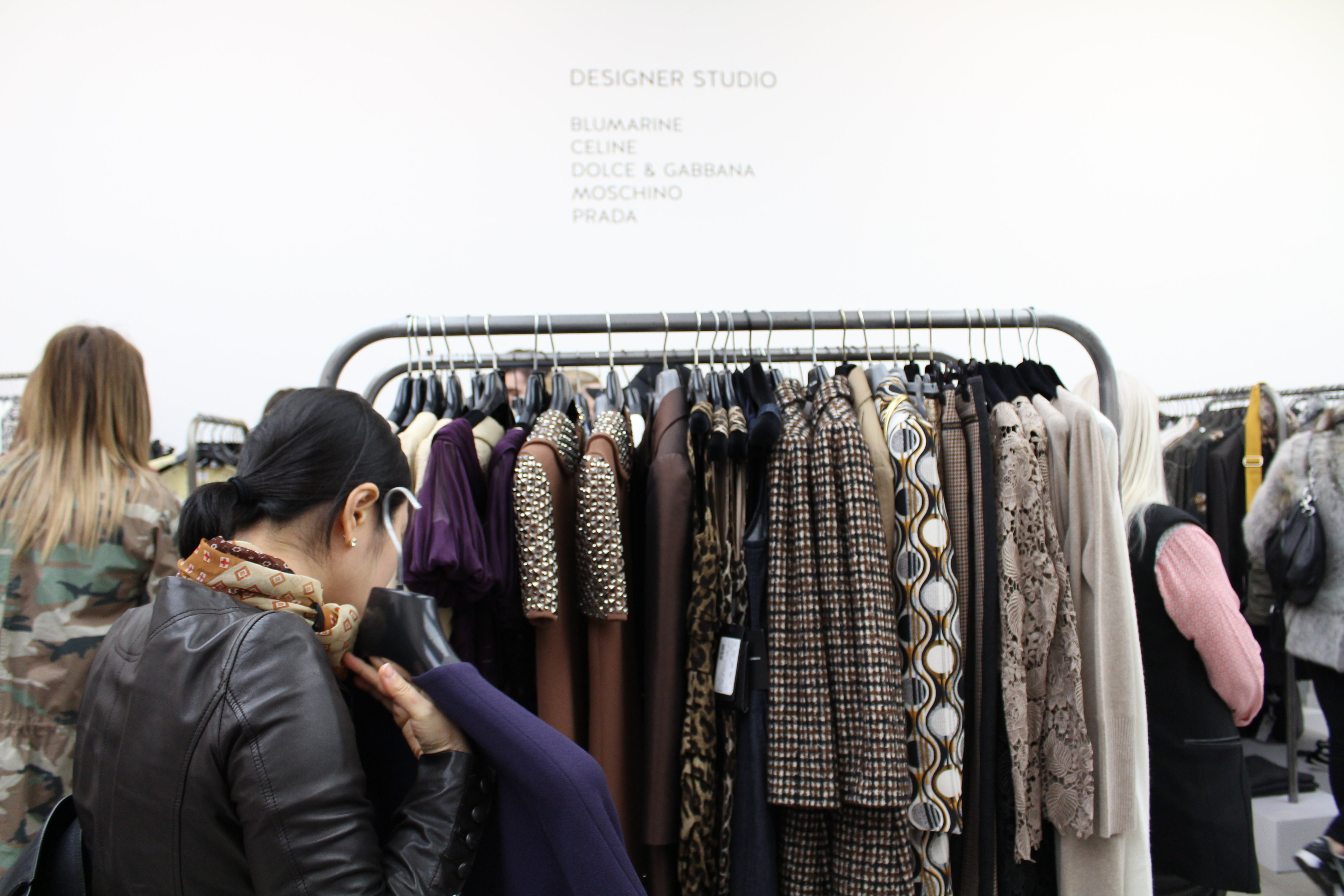Pop-up shop including Moschino, Dolce & Gabana, Prada and Balenciaga