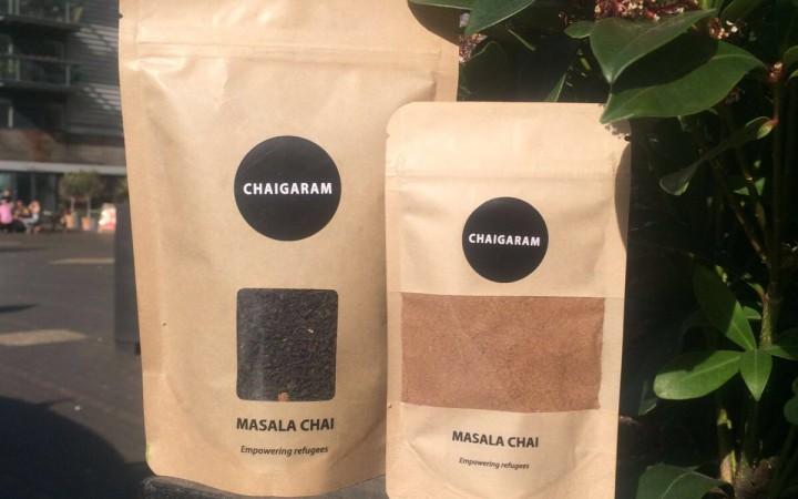 Chaigaram's tea: blended packaged by refugees.