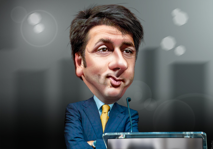 Caricature by Matteo Renzi