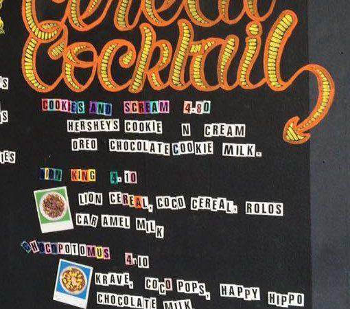 Cereal menu