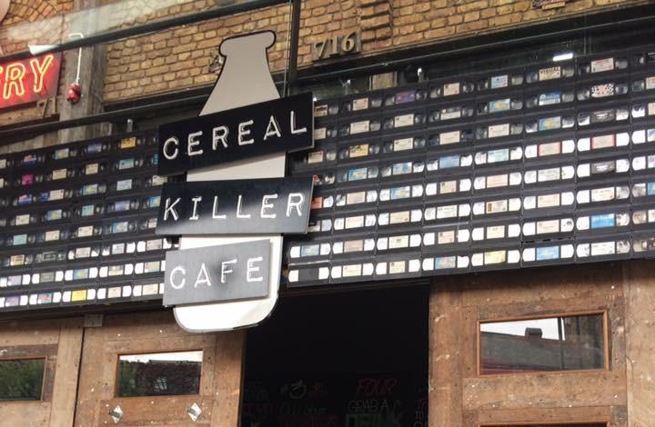 entrance of cereal killer cafe