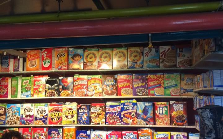 Cereals available at cereal killer cafe