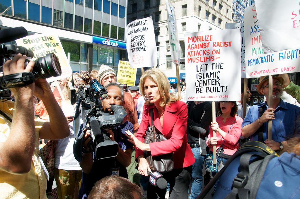 Protesters againsts Islamophobia