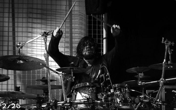 Richard drumming in Camden on Nov 11th