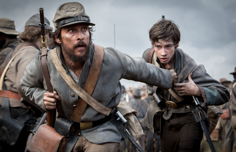 Matthew McConaughey in a battle scene