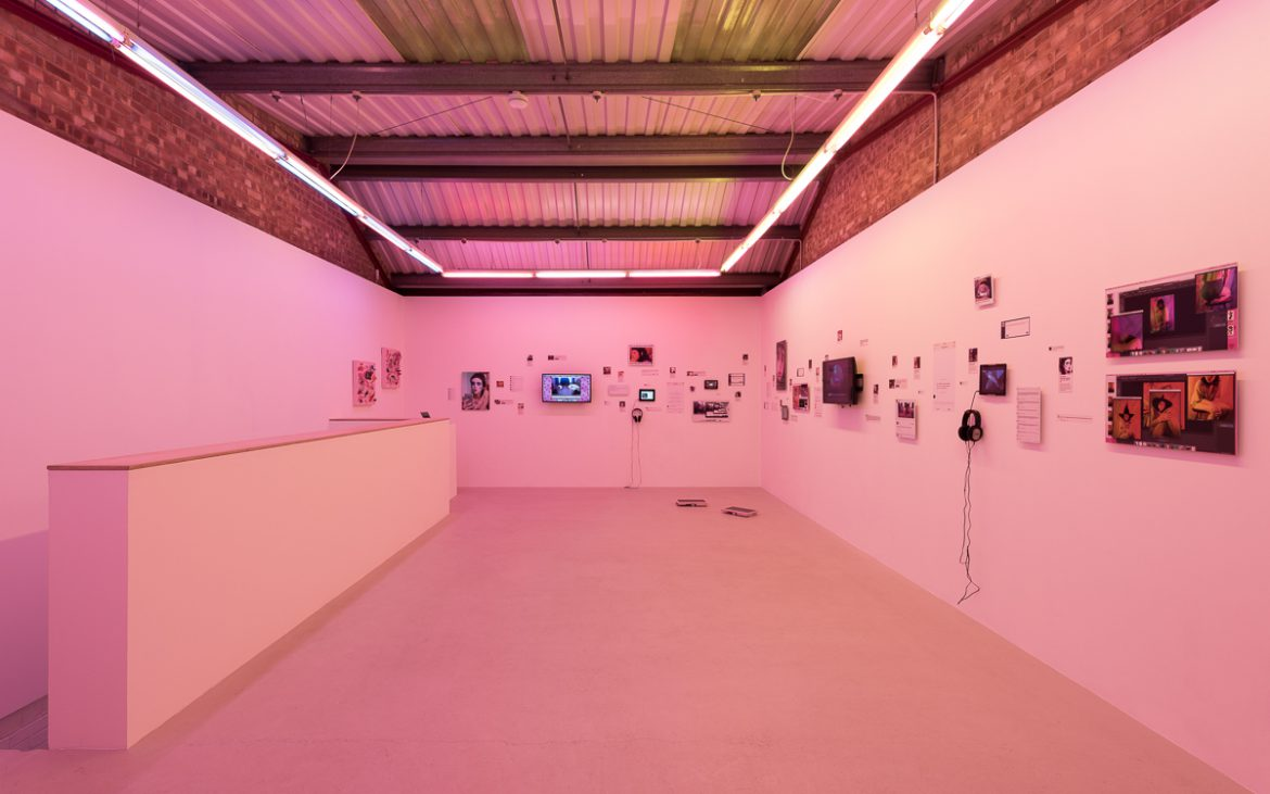 Installation view of Molly Soda's Exhibition