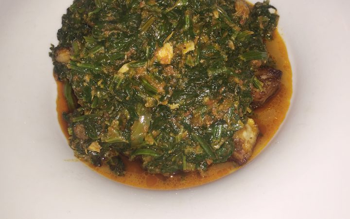 Spinach stew; photo by Ruth Fajemirokun