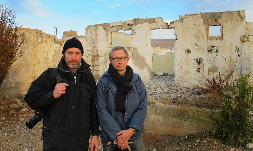 Swedish journalists Niclas Hammarstrom (left) and Magnus Falkehed (right).