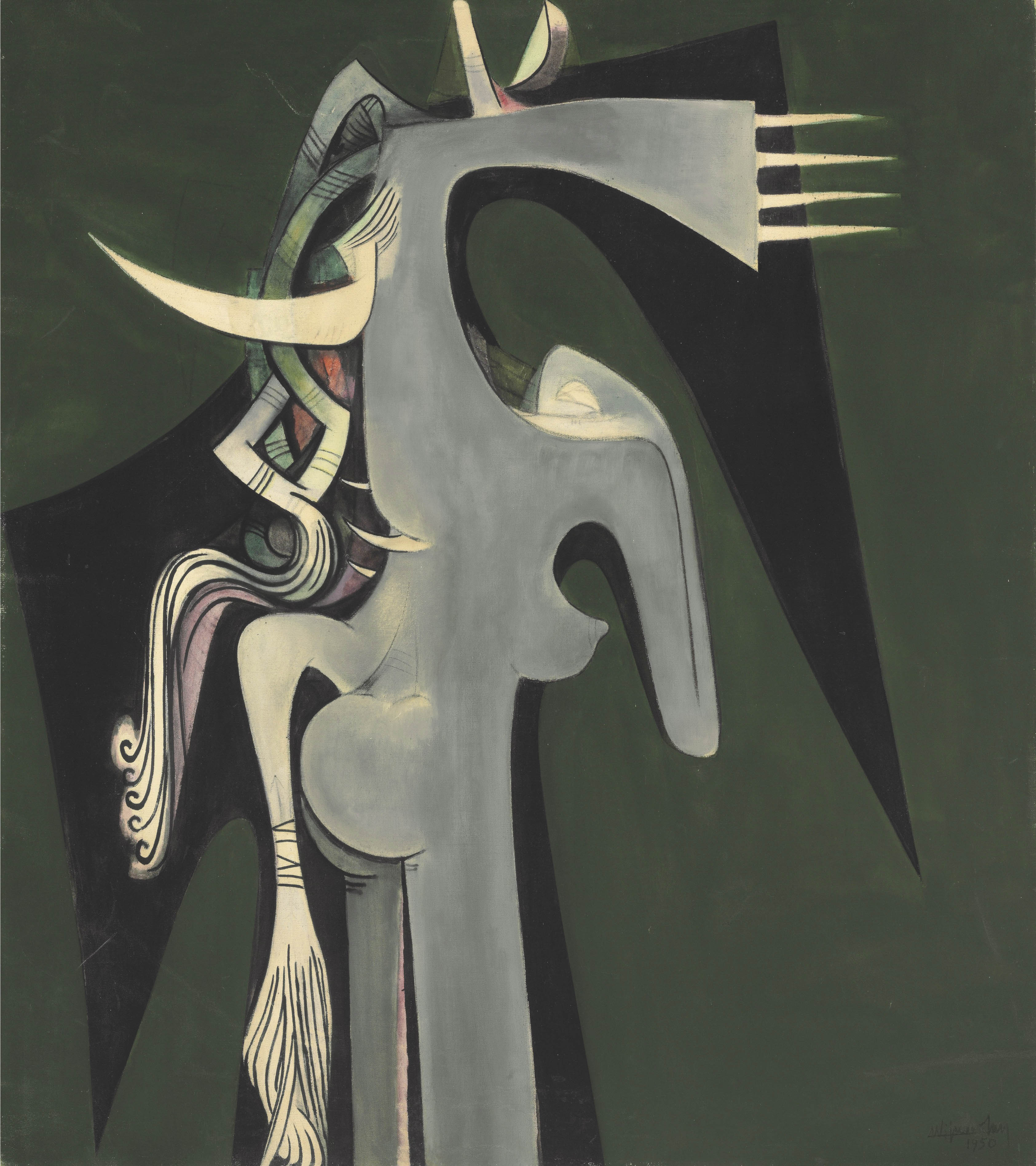 Horse-headed Woman, Wifredo Lam. 1950