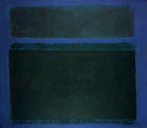 Painting using blues by Mark Rothko