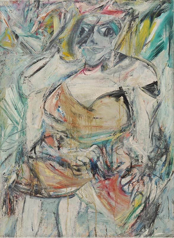 Painting of a woman by Willem De Kooning